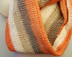 Pumpkin spice inspired infinity scarf