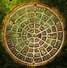 rusty manhole covers | Pg And E Manhole Cover San Francisco Photograph