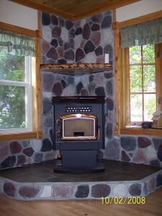 Corner Stove Idea                                                                                                                                                                                 More