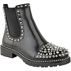 Shop a great selection of Fashion Thirsty Womens Low Spike Studded Chunky Ankle Boots Biker Goth Punk Grunge Size. Find new offer and Similar products for Fashion Thirsty Womens Low Spike Studded Chunky Ankle Boots Biker Goth Punk Grunge Size. Gold Ankle Boots, Low Heel Ankle Boots, Studded Ankle Boots, Buckle Ankle Boots, Ankle Shoes, Ankle Bootie, Goth Boots, Punk Shoes, Bottes Goth