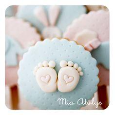 Bebek doğum kurabiyeleri | Mia Atölye