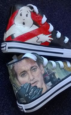 Hand-painted Ghostbusters hi-tops