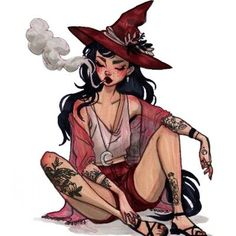 Inktober Day Light Witch from Jacquelin de Leon Illustration Witch Aesthetic, Aesthetic Art, Aesthetic Drawing, Character Inspiration, Character Art, Art Sketches, Art Drawings, Witch Drawing, Desenho Tattoo