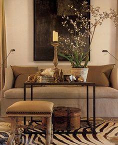 Living Room Zebra Print