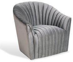 Interlude Channel Swivel Chair, Otter transitional-armchairs-and-accent-chairs