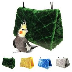 Sincere New Winter Warm Creative Bird Plush Hut Tent Hanging Bed Nest Cage Hammock For Parrot Parakeet Pet Products