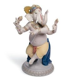 Lladro Dancing Ganesha Porcelain Sculpture. #Lladro #Statue #Sculpture #Decor #Gift #gosstudio   .  ★ We recommend Gift Shop: http://www.zazzle.com/vintagestylestudio ★