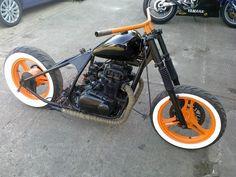 76 Kawasaki Hardtail Build