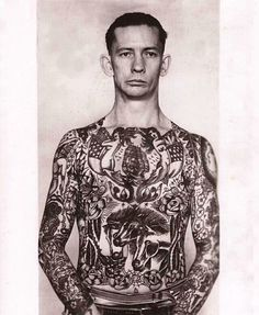Captain Elvy tattooed by George Fosdick.
