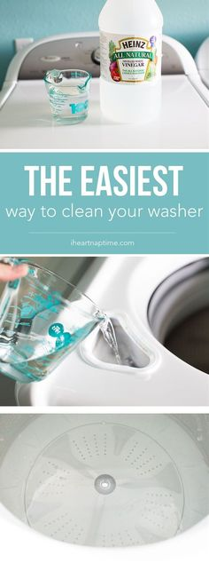 Best Spring Cleaning Ideas - Easiest Way to Clean Your Washer - Easy Cleaning Tips For Home - DIY Cleaning Hacks and Product Recipes - Tips and Tricks for Cleaning the Bathroom, Kitchen, Floors and Countertops - Cheap Solutions for A Clean House Household Cleaning Tips, Deep Cleaning Tips, Cleaning Recipes, House Cleaning Tips, Natural Cleaning Products, Cleaning Solutions, Spring Cleaning Tips, Kitchen Cleaning Tips, Tub Cleaning