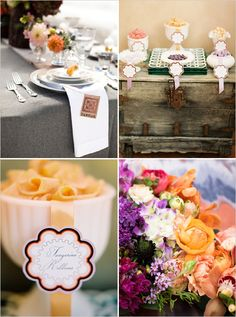 Please be sure to see these sassy tangerine orange wedding ideas. And use code Pin60 for 10% off wedding items at www.CreativeWeddingStyle.com