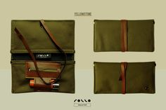 Porta tabacco in cotone canvas ed eco pelle, cotton fabric and fake leather made in italy
