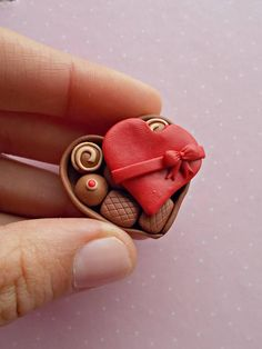 Flower heart brooch Brooch from polymer clay Flower brooches Brooch for women/'s  Valentines Day Gift Romantic Gift  Brooch with heart