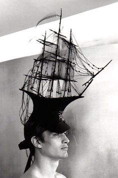 Philip Treacy Ship Hat Photographed by Bruce Weber Bruce Weber, Philip Treacy Hats, Isabella Blow, Vogue, Fascinator Hats, Fascinators, Headgear, Visual Merchandising, Art Music