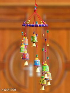 Wind Chimes Trendy Wall Decor Material: Paper Mache Pack: Pack of 1 Product Breadth: 20 cm Product Height: 48 cm Country of Origin: India Sizes Available: Free Size   Catalog Rating: ★4.2 (700)  Catalog Name: Classy Religious Wall Hangings CatalogID_943507 C127-SC1619 Code: 371-6181709-