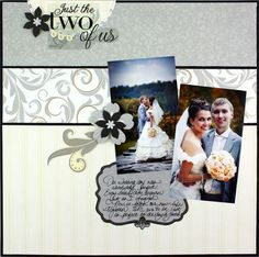 Just the Two of Us Divine Scrapbook Layout Page Idea
