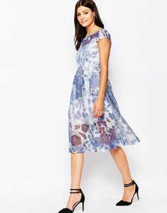Image 4 ofFrench Connection Water Garden Sheer Dress