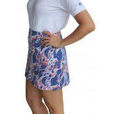 Women's Paisley 15 1/2 inch Skirt Royal/Orange/White Pennington & Bailes - Game Day Clothing