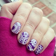 January Hostess exclusive from Jamberry. Want it? Host a FB party with me http://manisbymegan.jamberrynails.net/host  #purple #nailart