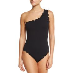 Marysia Santa Barbara One-Shoulder Maillot Swimsuit (22,330 INR) ❤ liked on Polyvore featuring swimwear, one-piece swimsuits, black, one shoulder bathing suit, one piece bathing suits, maillot swimsuit, swim suits and tank swimsuit