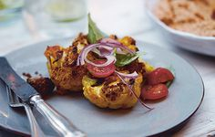 Marinated Cauliflower Steaks with Chile Quinoa https://www.womenshealthmag.com/food/vegan-dinners-deliciously-ella/slide/2