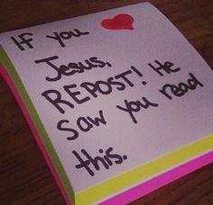 PLEASE REPOST BC JESUS IS AMAZING