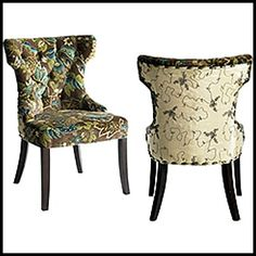 Pier One Peacock Dining Room Chair Cover 3
