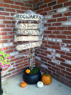 Harry Potter porch Halloween decor