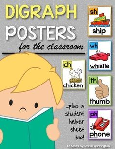 Digraphs: (Sh, Th, Ch, Wh, Ph) Posters & Writing Workshop