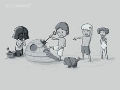 Star Wars at the beach.