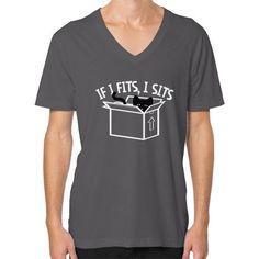 If I Fits, I Sits V-Neck (on man) Shirt
