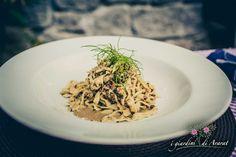 Tagliolini lavorati a matterello con tartufo scorzone di Vetralla e nocciola gentile di Caprarola