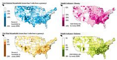 Information regarding Food Deserts in the USA -- the first time I head about this concept was in a university sociology class (which was an elective)