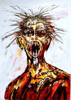 """Scream"" - Painting by Clive Barker"