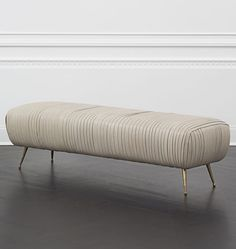 KELLY WEARSTLER | SOUFFLE BENCH. Exquisitely detailed lambskin leather.: