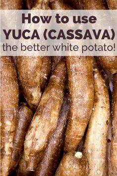 Everything you need to know about yuca, also known as cassava. a paleo-friendly tuber, plus healthy yuca recipes Yuca Recipes, Diet Recipes, Cooking Recipes, Healthy Recipes, Yucca Root Recipes, Healthy Tips, Healthy Choices, Healthy Foods, Comida Boricua