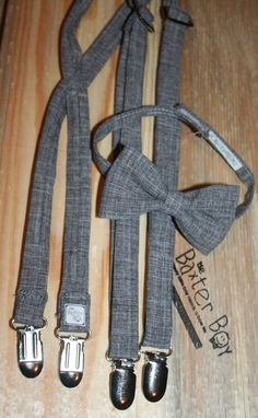 Charcoal suspenders for little boys - photo prop, wedding, ring bearer, accessory. $13.00, via Etsy.