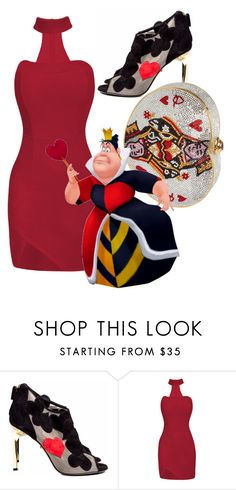 """""""Queen of Hearts"""" by nmdejager ❤ liked on Polyvore featuring Diane Von Furstenberg and Judith Leiber"""