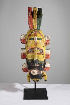Superbe masque de mariage sénoufo de Côte d'Ivoire. En vente dans la galerie www.Arts-Ethniques.com et sur Ebay : http://stores.ebay.fr/eopieri