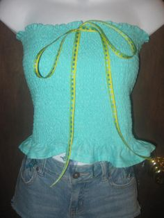 Ladies MEDIUM 28 to 35 inch chest Cinderella glass slippers & tiaras stretch tube top halter shirt
