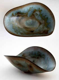 by Gertrude and Otto Natzler $8500.   internationally known for their collaborative pottery from 1933–1971.