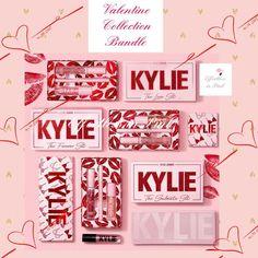 Kylie Cosmetics All Skin Types Full Size Makeup Sets & Kits for sale Kylie Makeup, Makeup Kit, Diy Makeup, Kylie Jenner Makeup Collection, Kylie Collection, Kylie Cosmetics Valentines Collection, Rangement Makeup, Lipstick Designs, Aesthetic Makeup