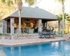 backyard designs with pool and outdoor kitchen. Spaces Acadian House Facade Doors With Shutters Design  Pictures Remodel Decor and Ideas swimming pool with outdoor kitchen plans backyard landscaping