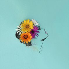 Artist Completes His Whimsical Illustrations with Blooming Flowers - My Modern…