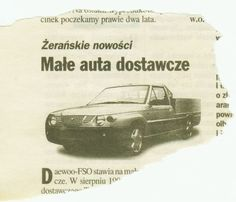 OG | Daewoo / FSO Polonez Pick-up | Facelifted prototype