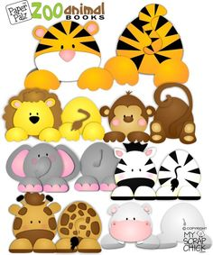Animal Paper Piecing Patterns | Zoo Animal Books: click to enlarge