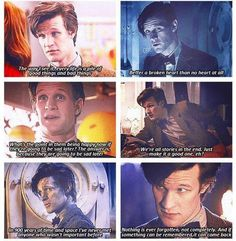 Happy Thoughts.  Matt Smith. Doctor Who. 11th Doctor.