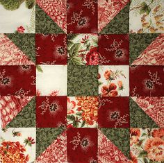 Quilt Block 5 | Flickr - Photo Sharing! Star Quilt Blocks, Star Quilts, Hexagon Quilt, Square Quilt, Quilting Projects, Quilting Designs, Pattern Blocks, Quilt Patterns, Civil War Quilts