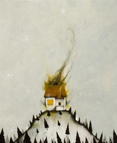 Scott Belcastro. Burning house