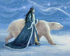 Celtic Druids, Polar Bear, Horses, Illustration, Animals, Yule, Wicca, Xmas, Animales